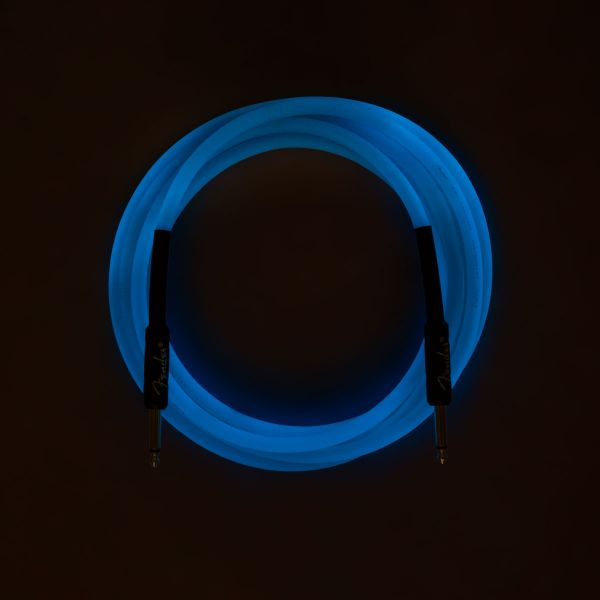 Professional Glow in the Dark Cable, Blue, 10'