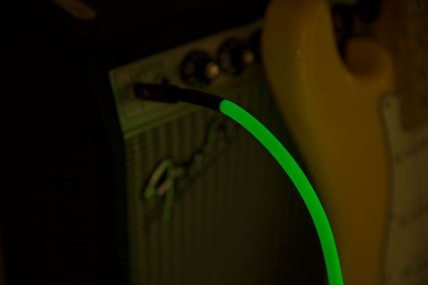 Professional Glow in the Dark Cable, Green, 10'