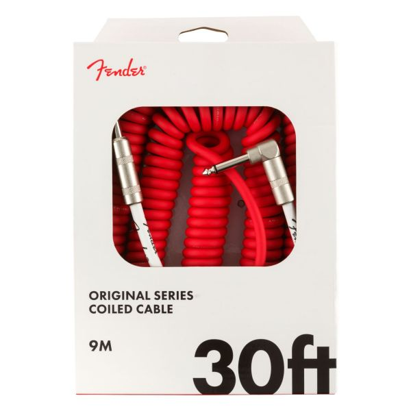 Original Series Coil Cable, Straight-Angle, 30', Fiesta Red